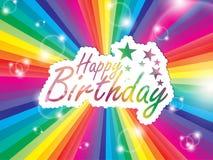 Happy Birthday Background. Royalty Free Stock Photo