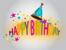 Happy Birthday Background. Illustration Stock Photography