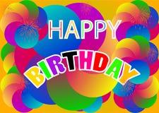 Happy Birthday Background. Illustration Stock Image