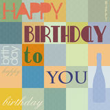 Happy Birthday background,  Royalty Free Stock Image