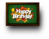 Happy birthday background with leaves. Stock Images