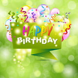Happy Birthday Background With Origami Royalty Free Stock Photography