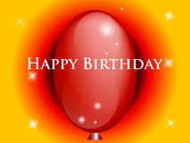 Happy Birthday. Background with red balloon. Royalty Free Stock Image