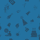 Happy Birthday Background. Happy Birthday Seamless Background Pattern. Simple, Minimalistic and Flat Style. Monochrome color. Vector Royalty Free Stock Photos