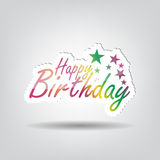 Happy Birthday Background. With space for your text Stock Image
