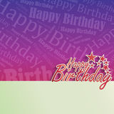 Happy Birthday Background. With space for your text Stock Photos