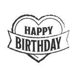 Happy birthday badge Royalty Free Stock Photos