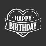 Happy birthday badge Stock Photos