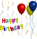Happy Birthday Ballons Stock Photos