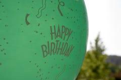 Happy Birthday Balloon. Outside balloon for a birthday party stock photo