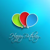 Happy birthday balloon background Stock Images