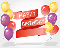 Happy birthday with balloon. Happy birthday with many balloons Stock Images