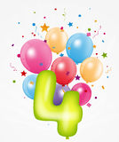 Happy Birthday balloon with number Royalty Free Stock Image