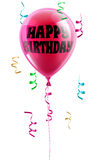 Happy Birthday balloon. A shiny pink balloon with the words Happy Birthday written on it Stock Photo