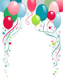 Happy birthday balloons. Happy birthday  background with space for text Stock Photo