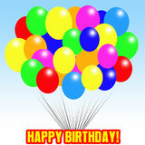 Happy Birthday Balloons Stock Photography