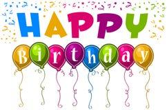 Happy Birthday Balloons royalty free illustration