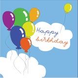 Happy birthday balloons Royalty Free Stock Image