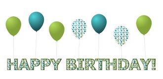 Happy Birthday and Balloons Stock Photos