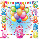 Happy Birthday balloons Stock Photo