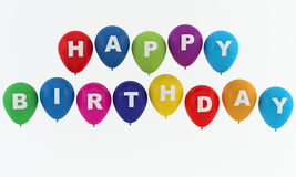Happy birthday balloons. Isokated on white Royalty Free Illustration