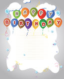 Happy Birthday Balloons Banner Stock Image