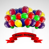 Happy Birthday Balloons Card Stock Images