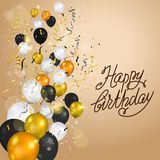 Happy birthday balloons card Stock Image