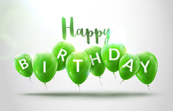 Happy birthday balloons celebration. Birthday party decoration design. Festive baloons lettering template. Celebration Royalty Free Stock Photography