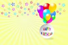 Happy Birthday balloons Stock Image