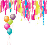 Happy birthday! Balloons and confetti. Stock Images