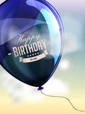 Happy birthday balloons greeting card blue and Stock Photo