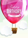 Happy birthday balloons greeting card deep rose Stock Photo