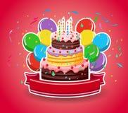 Happy birthday with balloons Stock Image