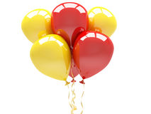 Happy birthday balloons isolated on white Royalty Free Stock Photos
