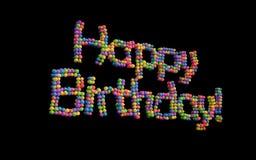 Happy Birthday balloons, multicolor. Stock Image