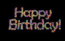 Happy Birthday balloons, multicolor. Stock Photo
