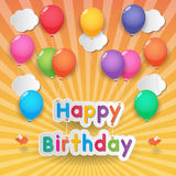 Happy birthday balloons vector illustration
