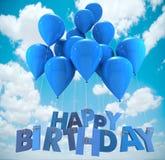 Happy birthday balloons, sky Stock Images
