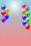 Happy birthday balloons. Vector various colors birthday balloons, eps10 , transparency used Royalty Free Stock Photo