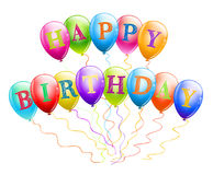 Happy birthday balloons Royalty Free Stock Images