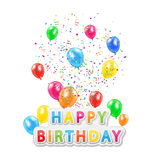 Happy birthday with balloons Royalty Free Stock Image