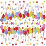 Happy birthday banner Royalty Free Stock Photography