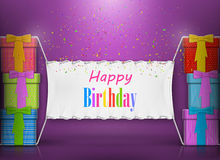 Happy Birthday Banner Abstract Design. Stock Photo