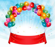 Happy birthday banner background. Vector Royalty Free Stock Photos