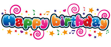 Happy birthday. Banner in bubble font Stock Photography