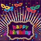 Happy birthday banner Royalty Free Stock Photos