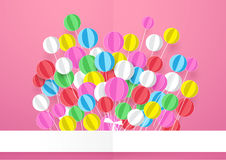 Happy Birthday. Banner with Colorful Balloons. Royalty Free Stock Photography