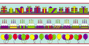 Happy Birthday Banners Royalty Free Stock Image