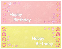 Happy birthday banners Stock Photos